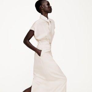 Zara Limited Edition White Shirt Dress Necktie